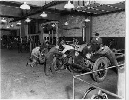 Photo of Boys' Tech Auto Shop, 1928