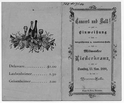 Photo of German Concert and Ball Dance Card