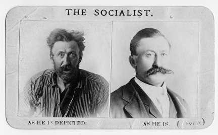 Photo of Socialist promotional card from 1908
