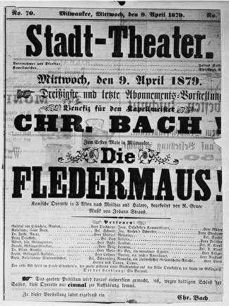 Photo of Old Stadt Theater Poster for Die Fledermaus