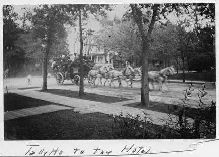 Photo of Tally Ho to the Hotel, Carriage and Six Horses