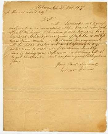 Solomon Juneau Letter