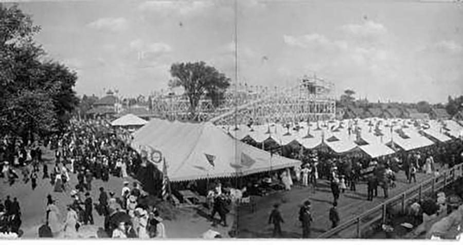 Photo of Tents and People Pabst Park