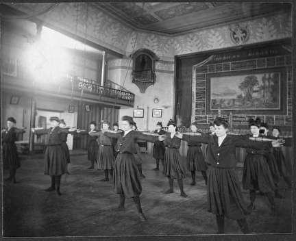 Photo of Women in Ballroom Exercising at Milwaukee Turners