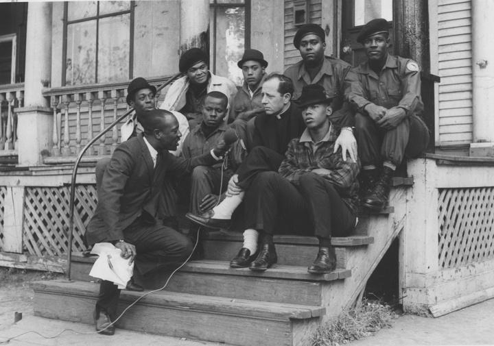 Photo of Father James Groppi and the NAACP Youth Council in 1966
