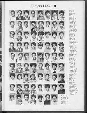 Photo of Lincoln High School Yearbook Page in 1970