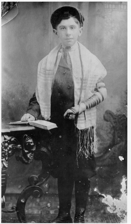 Photo of Russian Jewish Boy at his Bah Mitzvah