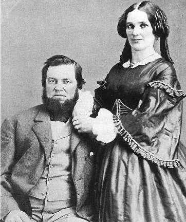 Photo of Captain James M. Jones, shown with wife