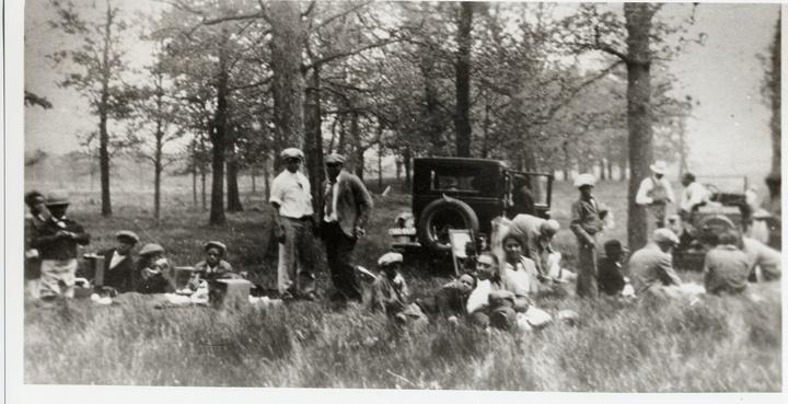 Photo of African American Group Picnic and Car