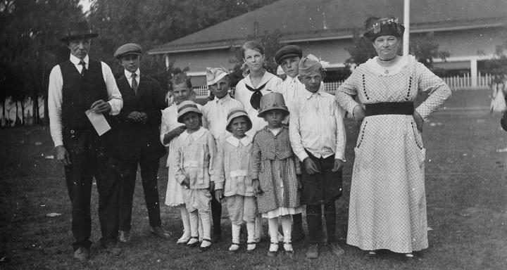 Photo of Family Group with Adults and Kids