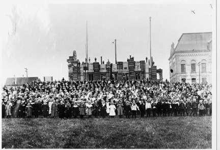 Photo of Large Group Portrait in front of St. Josaphat's Basilica