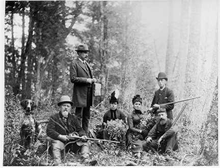 Photo of Hunters in National Park near 27th Street in 1885