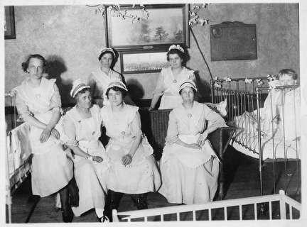 Photo of Nursery Staff in 1920
