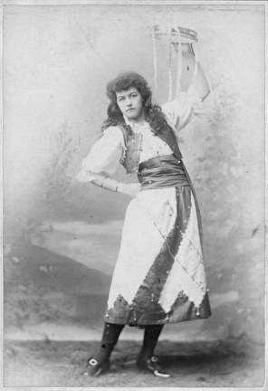 Photo of Woman with Tamborine Portrait