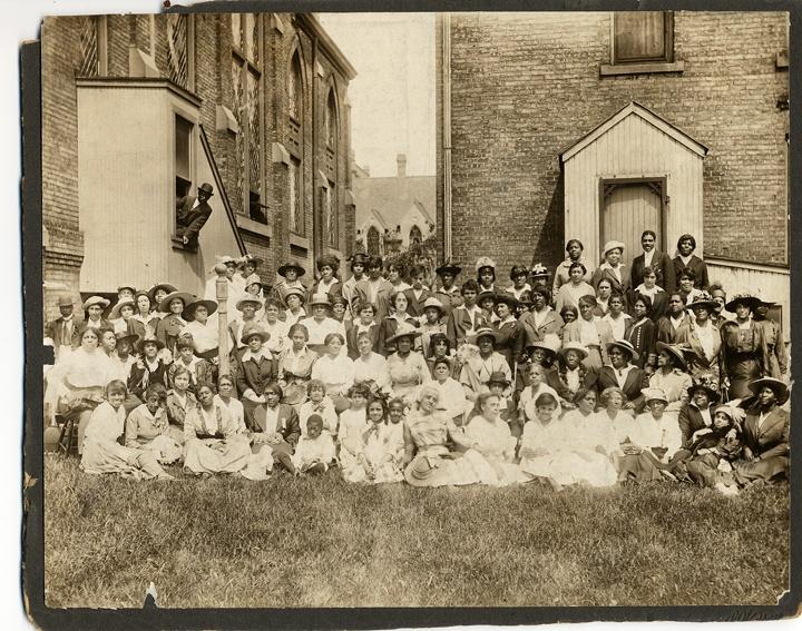 Photo of African American Large Church Group Portrait
