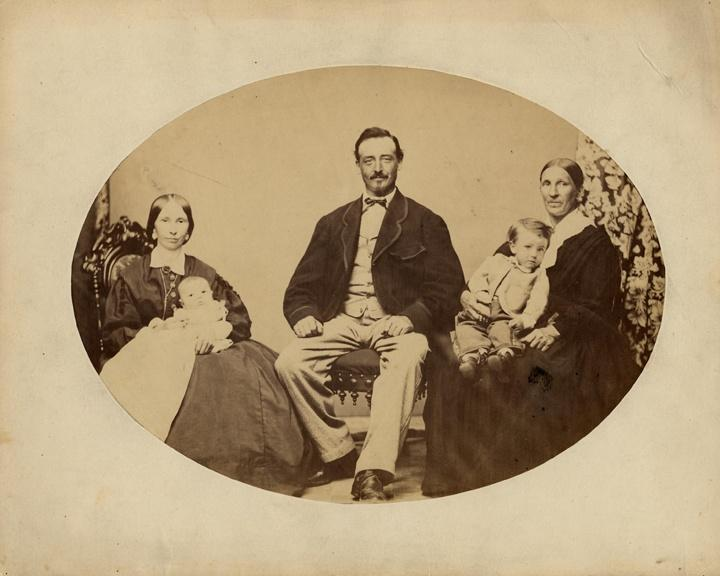 Photo of Frederick Miller and Family, Brewery Owner, Brewmaster