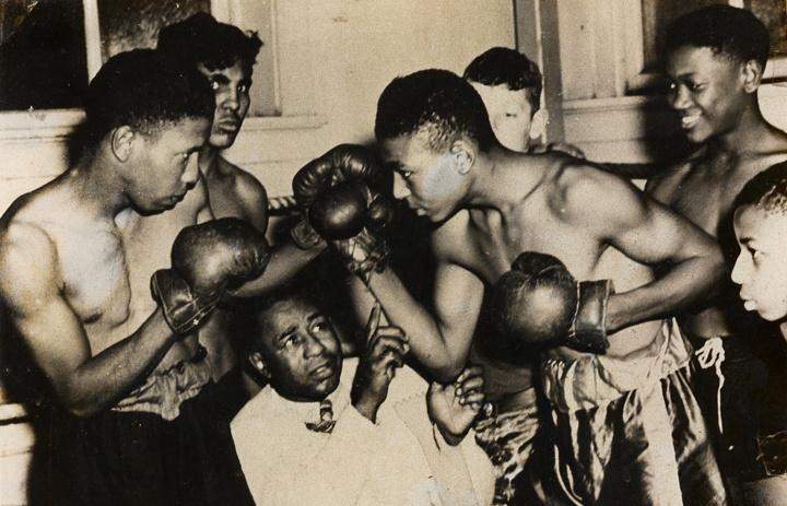 Photo of African-Americans Boxing