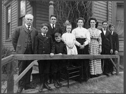 Photo of German Family Portrait Outside Their Home