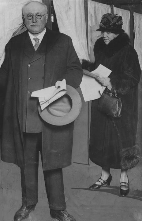 Photo of Victor and Meta Berger in their Later Years