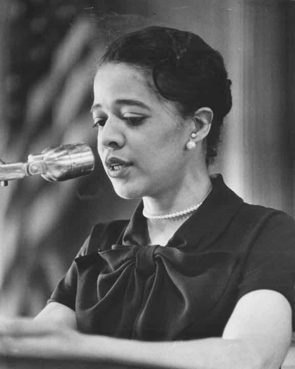 Photo of Vel Phillips, First African-American on Common Council