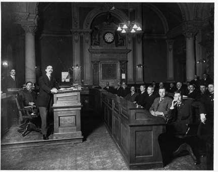 Photo of Milwaukee County Board Chamber, 1911-1913