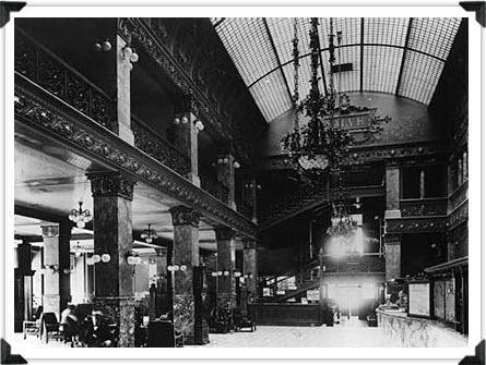 Pfister Hotel Interior Then