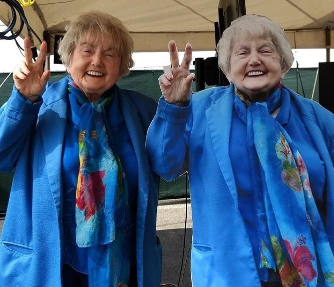 Eva Kor with WFYI at the Indiana State Fair.