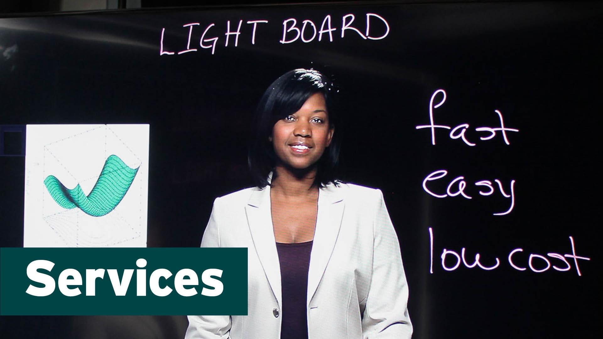 UNC-TV's Lightboard is one of the unique services it offers.