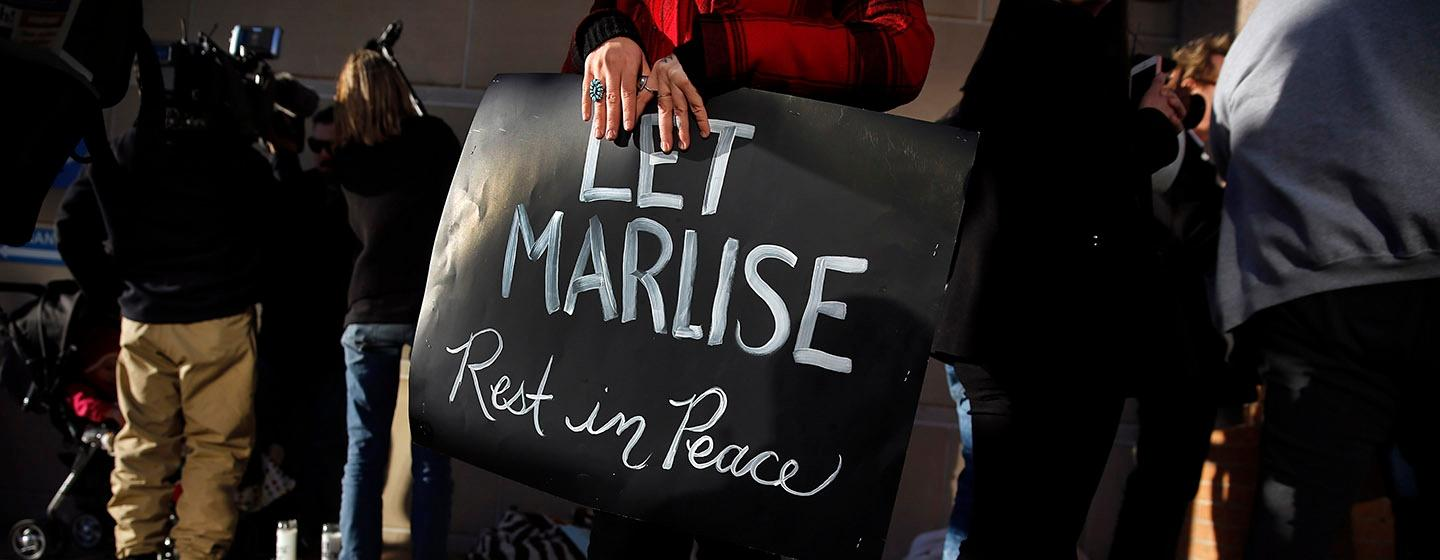 RIP Marlise protest photo