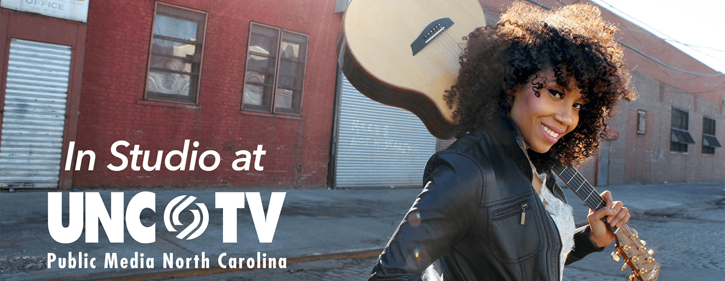 Rissi Palmer in studio at UNC-TV
