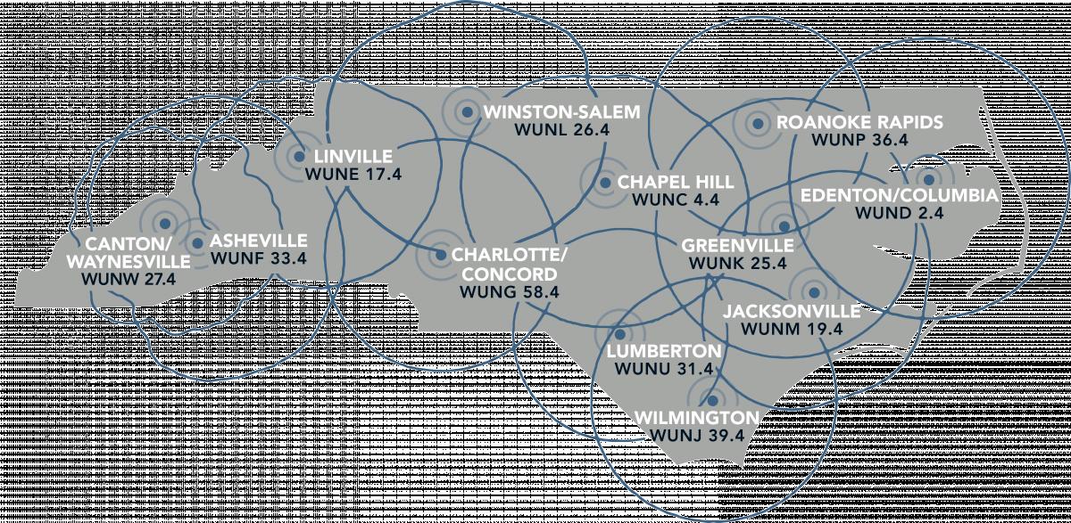 Signal Map UNC-TV