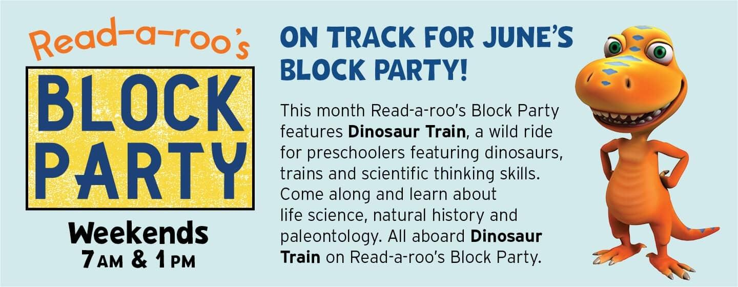May Block Party with Sid the Science Kid is on Rootle each weekend at 7 AM and 1 PM