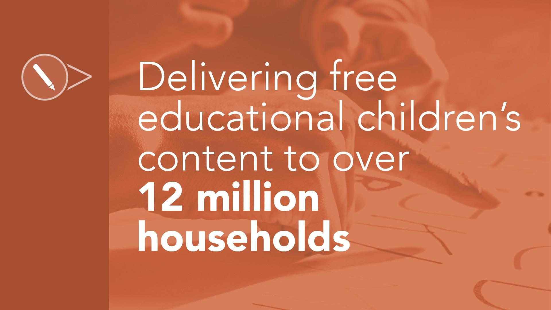 Delivering free educational children's content to over 12 million households