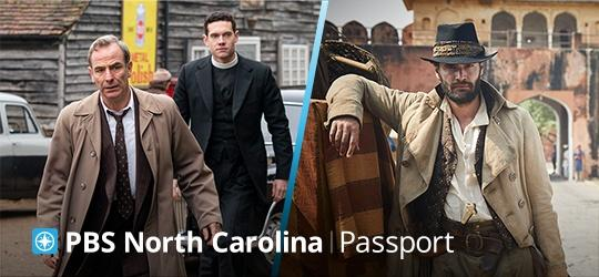 PBS North Carolina Passport logo over images from two PBS shows