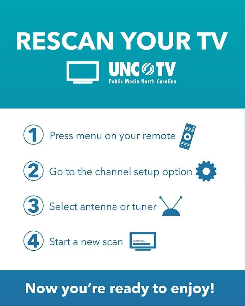 television set rescan instructions