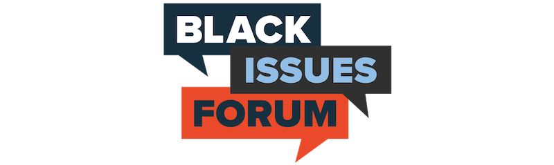 Black Issues Forum logo on white background