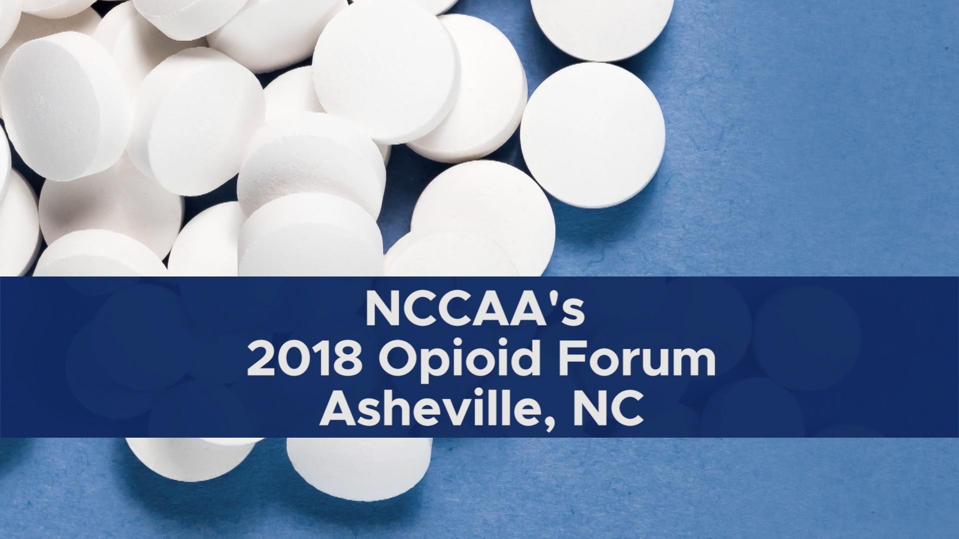NCCAA's 2018 Opioid Forum, Asheville, NC