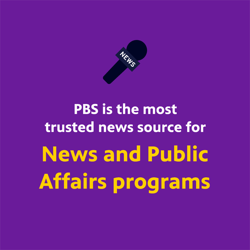 PBS is the Most Trusted Source for News and Public Affairs