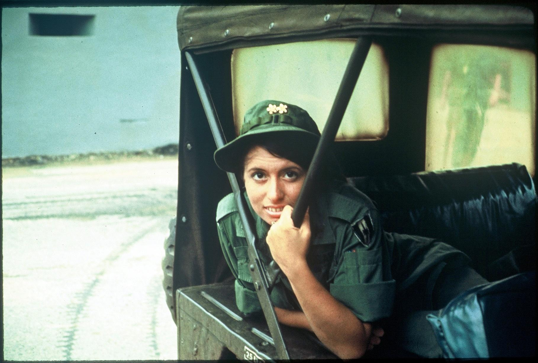 Image of Lou Eisenbrandt in a jeep