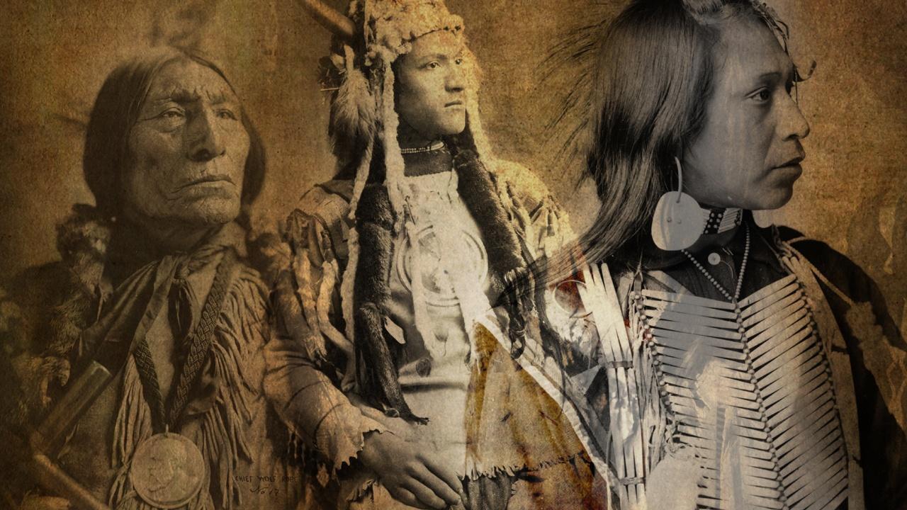 three Native American warriors