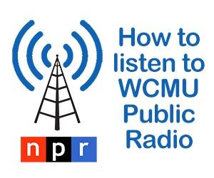 How to listen to WCMU radio graphic