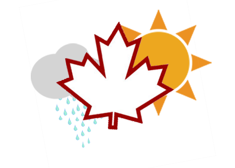 Canadien Weather graphic