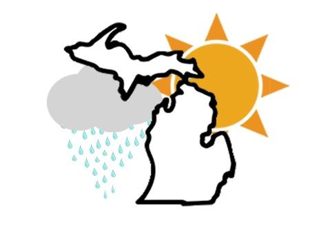 Michigan Weather graphic