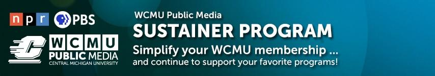 WCMU Sustainer graphic