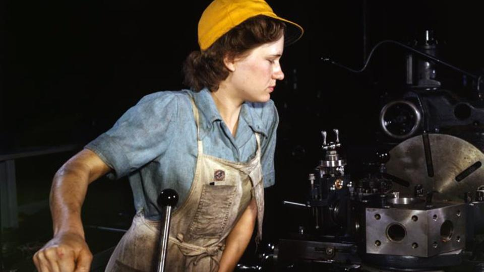 A woman working in a factory.