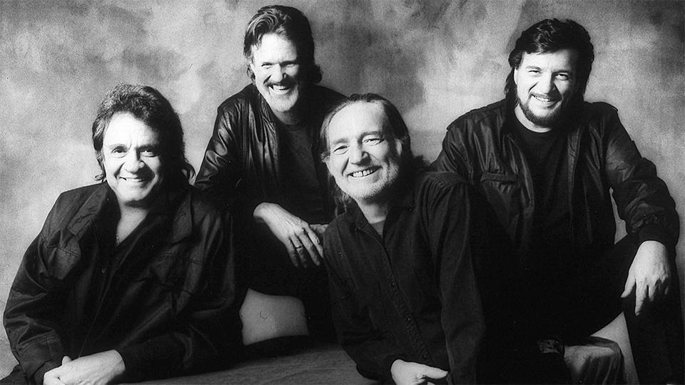 The Highwaymen: Johnny Cash, Kris Kristofferson, Willie Nelson, and Waylon Jennings.