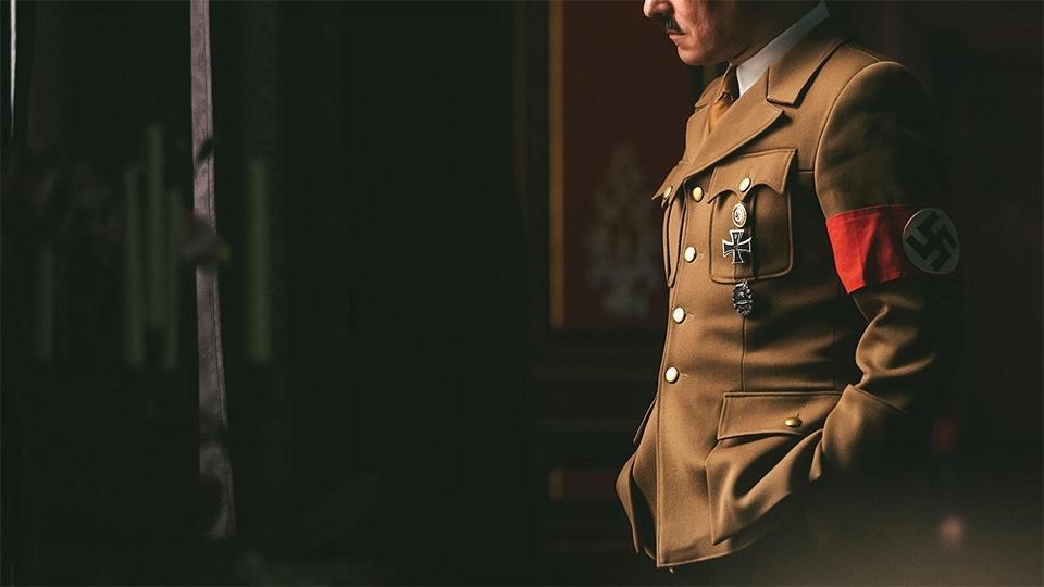Adolph Hitler in his Nazi uniform.