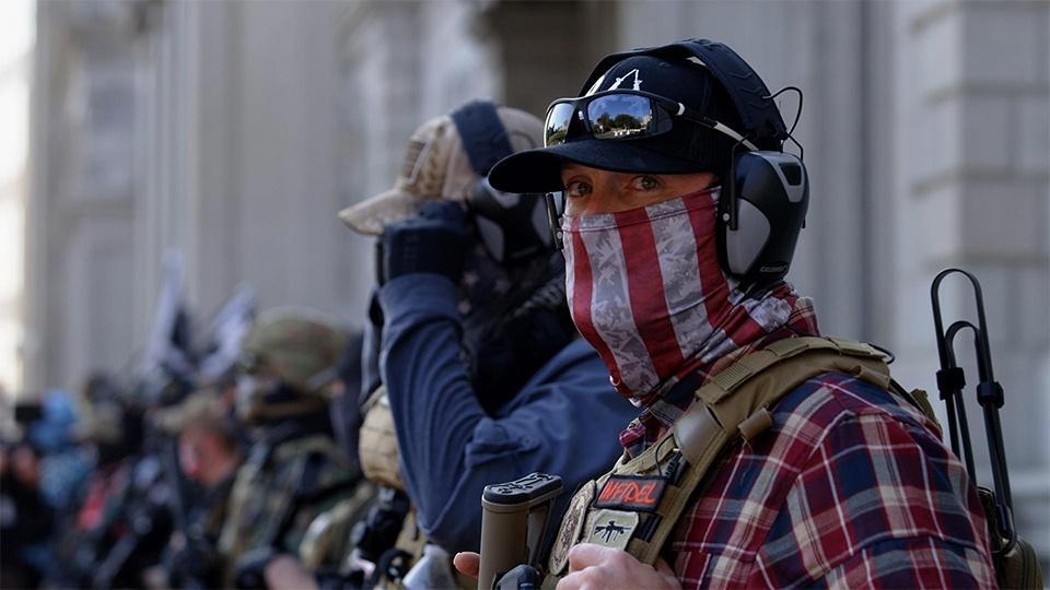 Rally in Richmond, Virginia. November 21, 2020.