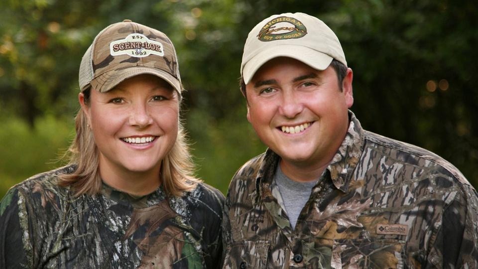 Michigan Out of Doors hosts Jenny Olsen and Jimmy Gretzinger.