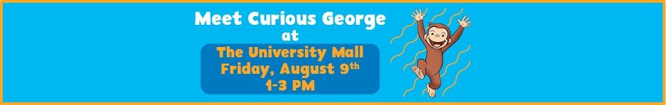 Ad for Curious George event